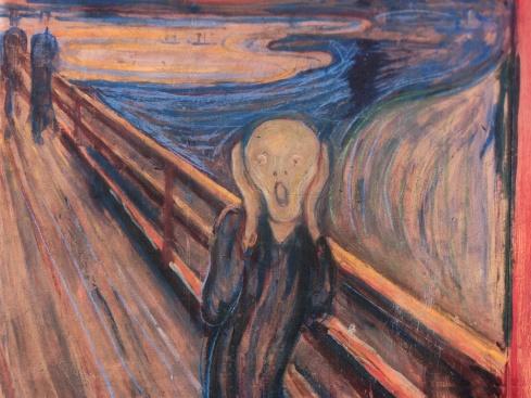 O Grito (no original Skrik)  Edvard Munch fonte: Wikipédia